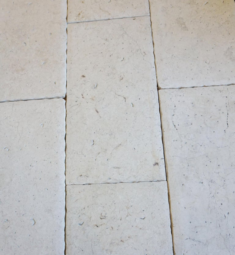 Israeli Lot of 300 Sq. Ft. Limestone Flooring from Jericho For Sale
