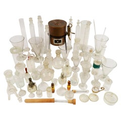 59 Pieces of Glassware and a Copper Stove from a Scientific Laboratory in Milan