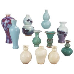 Lot of Chinese porcelain PRoC Vases Monochromes and unusual Glazed