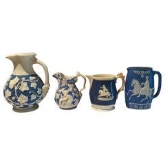 Lot of Four (4) 19th Century Porcelain Creamers pr Jugs