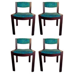 """Lot of Four Chairs Series """"300"""" Design Joe Colombo for Pozzi, 1965"""