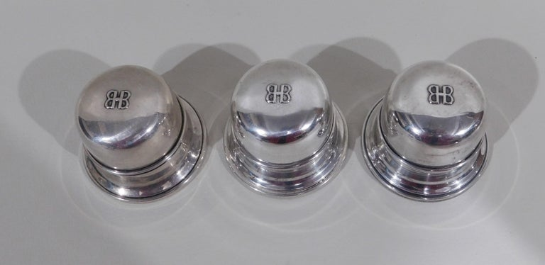 Lot of Six Sterling Silver Ring Boxes English Stamps Birks Canadian For Sale 2