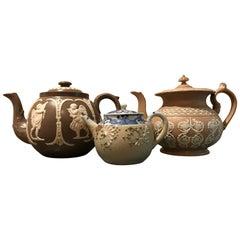 Lot of Three 19th Century English Teapot