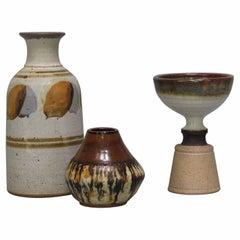 Lot of Three Art Studio Pottery Pieces