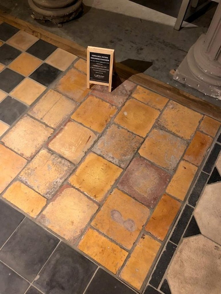 Very unique and rare lot of glazed and drained Dutch tiles. We have +/- 83 m2 available of them. These tiles are really timeless.