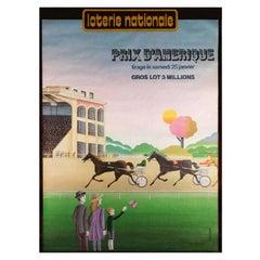 Loterie Nationale Prix d'Amérique Original Vintage Poster