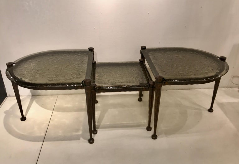 Bronze Lothar Klute Coffee Table Set For Sale
