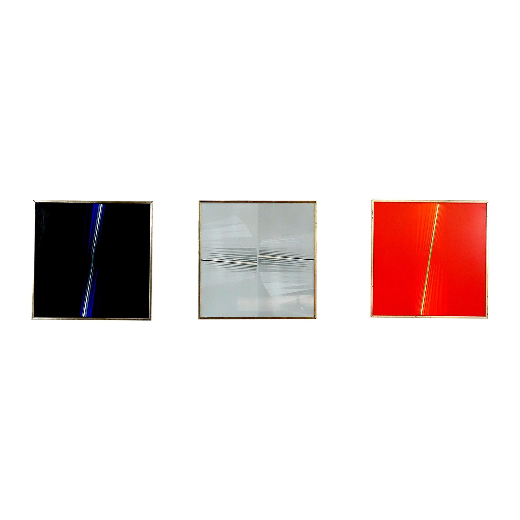 """Lothar Quinte Series of Three """"Fan-Images"""" Lithographs"""