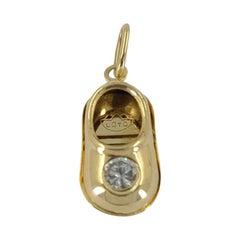 Loto 18 Karat Yellow Gold Baby Shoe Charm