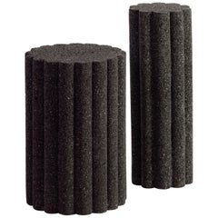 Loto Roca Side Tables, Set of 2, Volcanic Rock