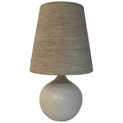 Lotte and Gunnar Bostlund White Ceramic Table Lamp