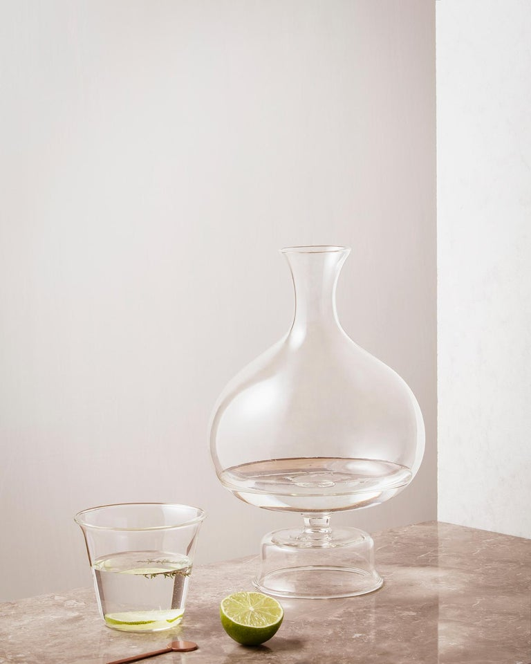 Lotty Mouth Blown Glass Decanter/Vase Designed by Aldo Cibic In New Condition For Sale In Milan, IT