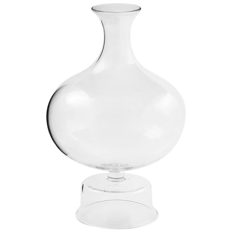 Lotty Mouth Blown Glass Decanter/Vase Designed by Aldo Cibic For Sale