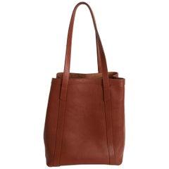 Lotuff Leather Angle Tote Bag Saddle Tan XL Travel Bag