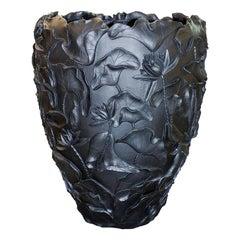 Lotus Black Vase