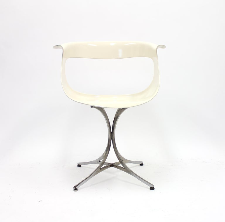 Lotus Chair by Erwine & Estelle Laverne for Laverne International, 1960s In Fair Condition For Sale In Uppsala, SE