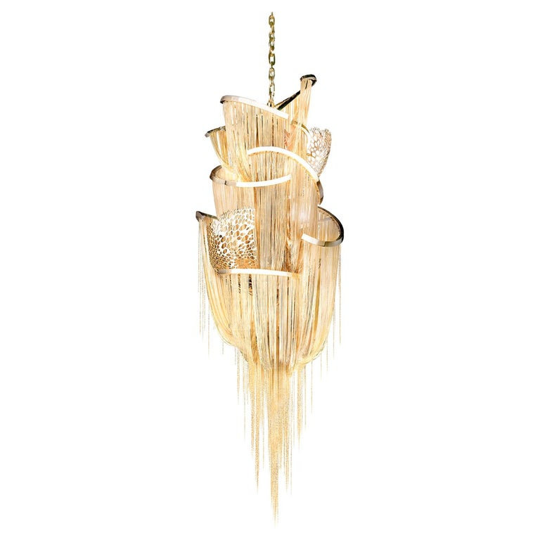 Lotus Chandelier by Barlas Baylar For Sale