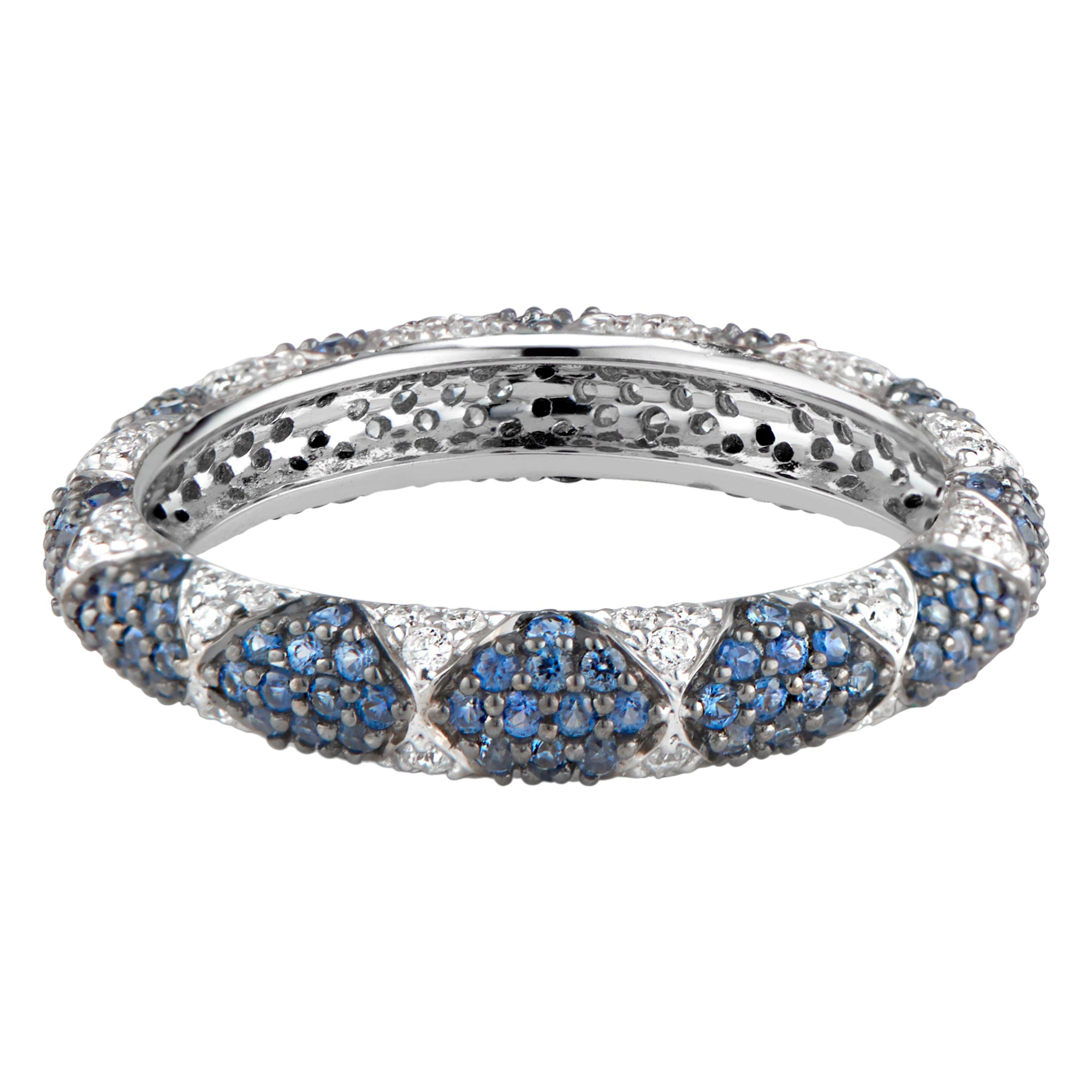 3206b3088b078 Sapphire And Diamond Eternity Bands - 82 For Sale on 1stdibs