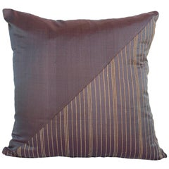 Lotus Flower and Silk Pillow from Myanmar, Marron Brown