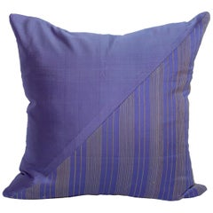 Lotus Flower and Silk Pillow from Myanmar, Purple