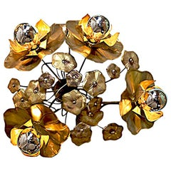Four Lotus Brass Flower Light for wall or ceiling