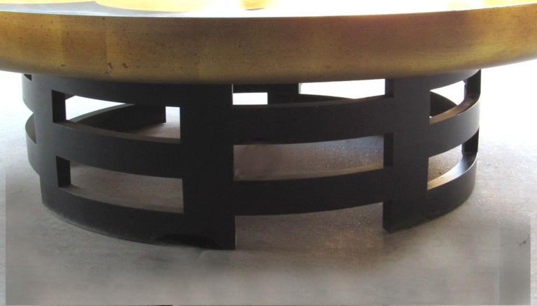 Muller & Barringer Lotus Coffee Table for Kittinger USA  1950s In Good Condition For Sale In Surprise, AZ