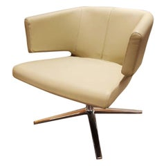 Lotus Leather Lounge Chair, by Niels Bendtsen from Bensen