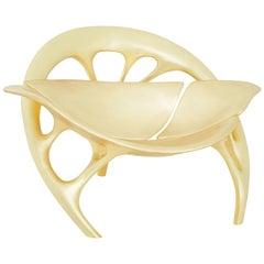 Lotus Lounge Chair 'Brass' by Zhipeng Tan