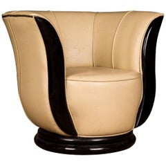 Lotus Shaped Armchair in the Art Deco Style