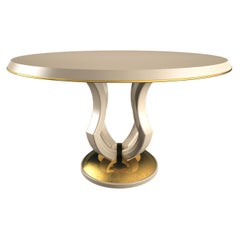 Lotus White Dining Table by Hanno Giesler