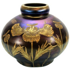"Lötz Art Nouveau ""ruby enameled"" Glass Vase Loetz"