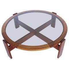 Lou Hodges Rare Walnut Coffee Table, California Design Group