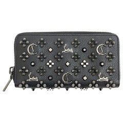 LOUBOUTIN Panettone Black Studded Leather Wallet
