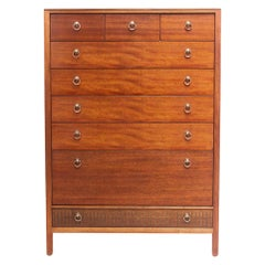 Loughborough Tallboy For Heals Mid Century Teak Chest Of Drawers, 1960s