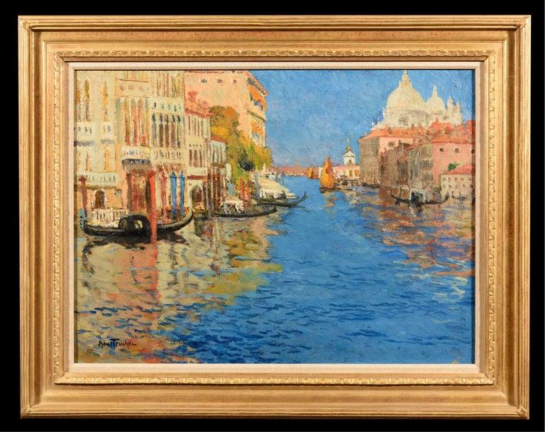 Louis Abel-Truchet Figurative Painting - Venise, la Pointe de la Douane Vue du Grand Canal