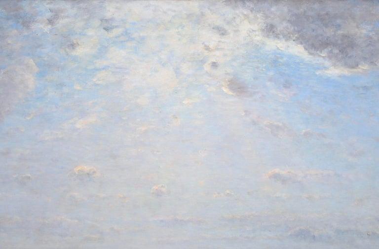 Les Bergers - Barbizon Oil, Shepherd & Sheep in Landscape by Louis Aime Japy - Barbizon School Painting by Louis Aimé Japy