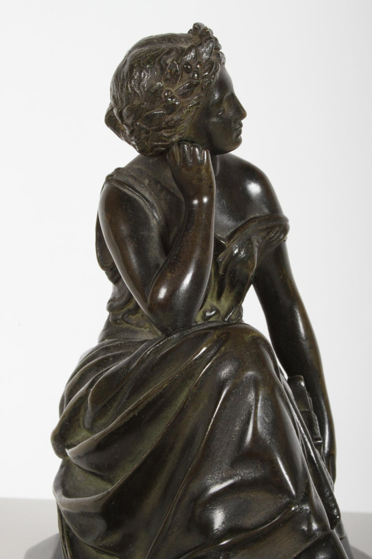 Louis Alfred Habert 19th Century French Bronze Figure of the Muse Terpsichore For Sale 4