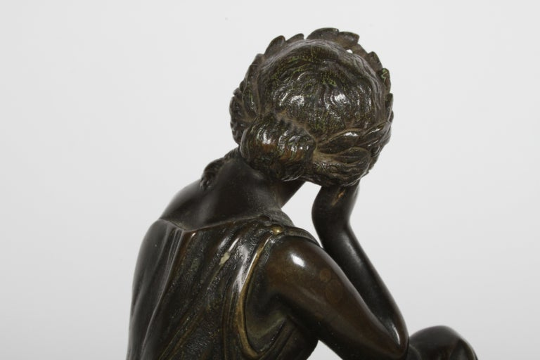 Louis Alfred Habert 19th Century French Bronze Figure of the Muse Terpsichore For Sale 7