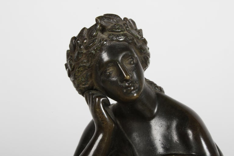 Louis Alfred Habert 19th Century French Bronze Figure of the Muse Terpsichore For Sale 8