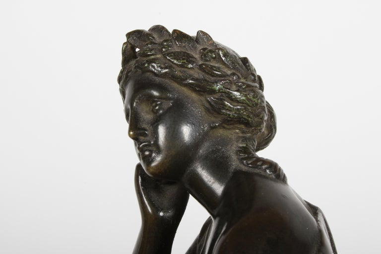Louis Alfred Habert 19th Century French Bronze Figure of the Muse Terpsichore For Sale 9