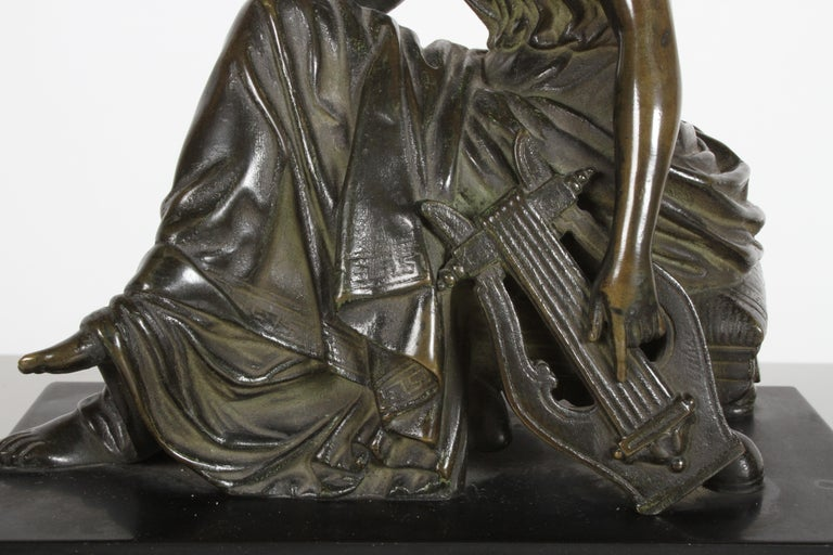 Louis Alfred Habert 19th Century French Bronze Figure of the Muse Terpsichore For Sale 2