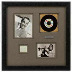 Louis Armstrong and Duke Ellington American Jazz Legends Autographs