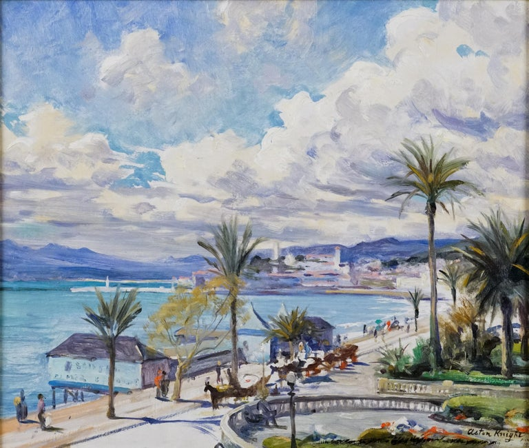 Cannes - Painting by Louis Aston Knight