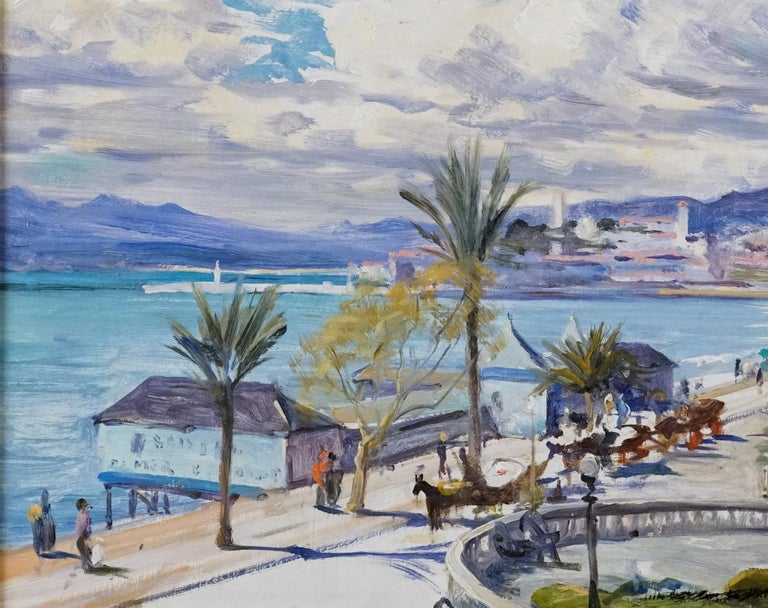Cannes - Post-Impressionist Painting by Louis Aston Knight