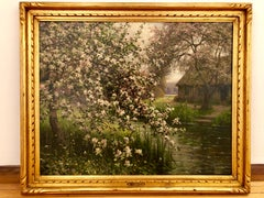 Dogwood along a Stream, impressionist landscape by Louis Aston Knight