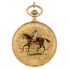 Louis Audemars & Cie Victorian Hunter Case Enamel Pocket Watch