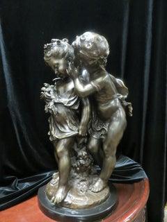 WHISPERING CHILDREN AKA SECRETS BY AUGUSTE MOREAU BRONZE