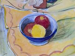 1940's French Fruit Still Life  - Post Impressionist artist