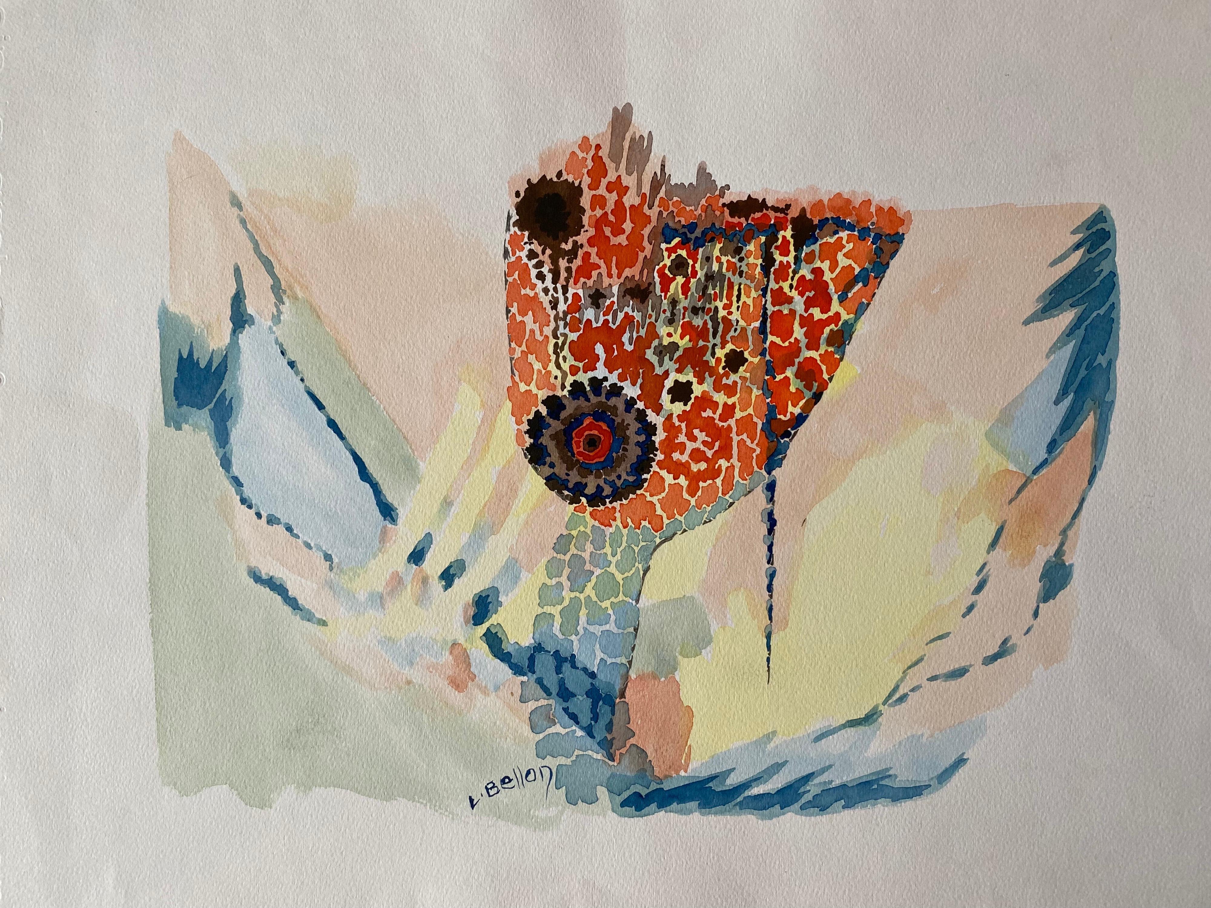 1940's Post Impressionist artist Abstract Design Artwork