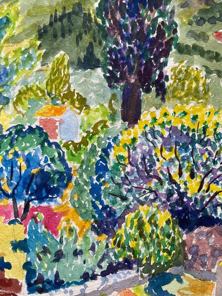 1940's Provence France Painting Landscape - Post Impressionist artist 1
